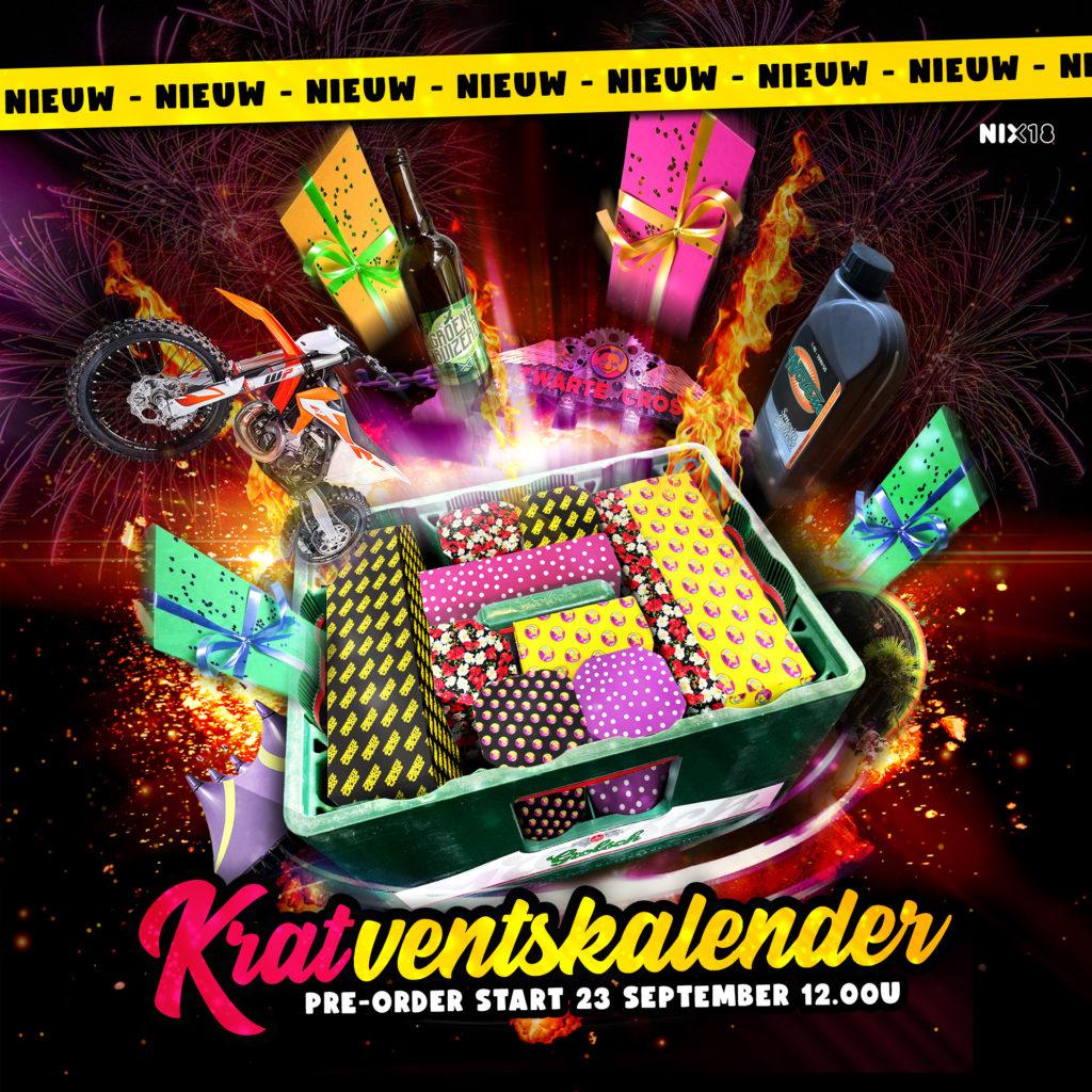 Zwarte Cross Adventskalender. Vanaf 23 september te bestellen via www.zwartecross.nl